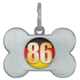 86 GERMANY Gold Pet ID Tag