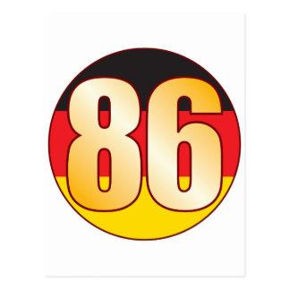 86 GERMANY Gold Postcard
