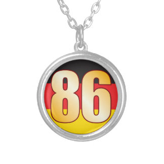 86 GERMANY Gold Round Pendant Necklace