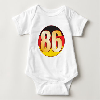 86 GERMANY Gold T-shirts