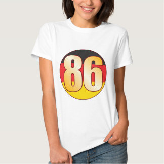 86 GERMANY Gold T Shirts