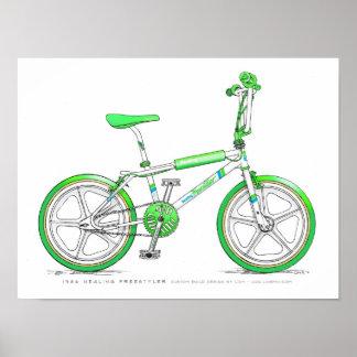 86 Healing Freestyler LixBMX Vintage BMX Sketch Poster