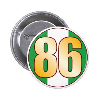 86 NIGERIA Gold 6 Cm Round Badge