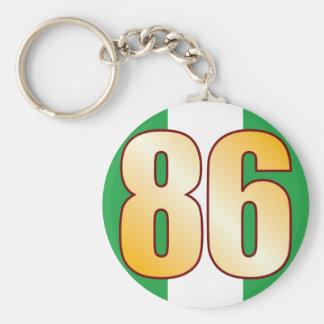86 NIGERIA Gold Basic Round Button Key Ring