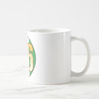 86 NIGERIA Gold Basic White Mug
