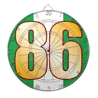 86 NIGERIA Gold Dartboard