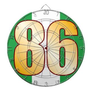 86 NIGERIA Gold Dartboard