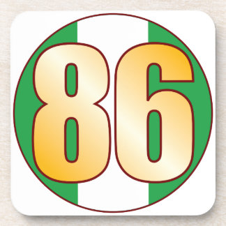 86 NIGERIA Gold Drink Coasters