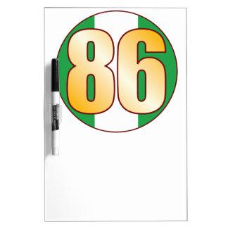 86 NIGERIA Gold Dry Erase Board