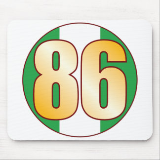 86 NIGERIA Gold Mouse Pad