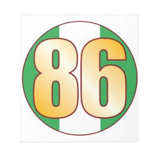 86 NIGERIA Gold Note Pad