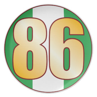 86 NIGERIA Gold Party Plates