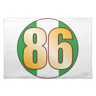86 NIGERIA Gold Placemats