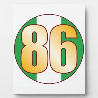 86 NIGERIA Gold Plaques