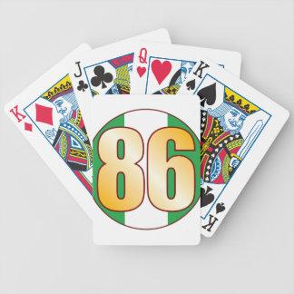 86 NIGERIA Gold Poker Deck