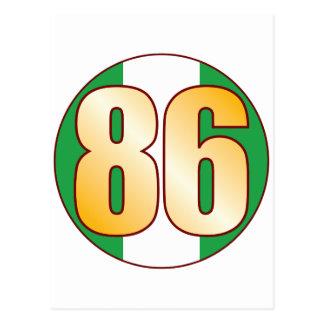 86 NIGERIA Gold Postcard