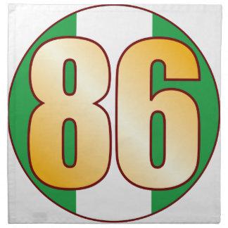 86 NIGERIA Gold Printed Napkins