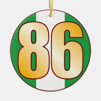 86 NIGERIA Gold Round Ceramic Decoration