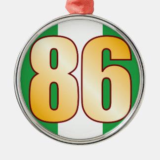 86 NIGERIA Gold Silver-Colored Round Decoration