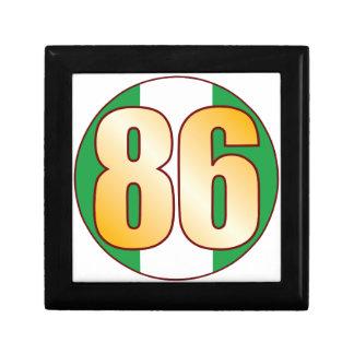 86 NIGERIA Gold Small Square Gift Box