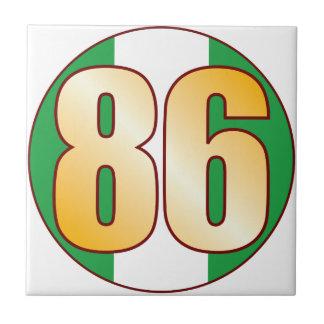 86 NIGERIA Gold Small Square Tile