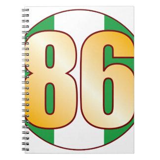 86 NIGERIA Gold Spiral Notebooks