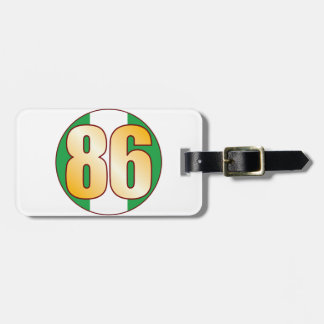 86 NIGERIA Gold Tag For Luggage