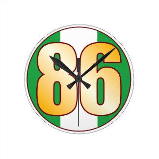 86 NIGERIA Gold Wall Clocks