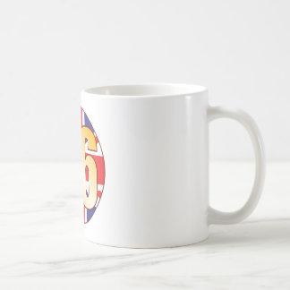 86 UK Gold Basic White Mug