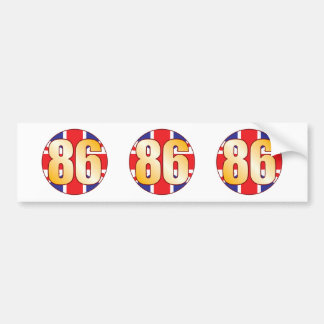 86 UK Gold Bumper Sticker
