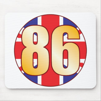 86 UK Gold Mouse Pad