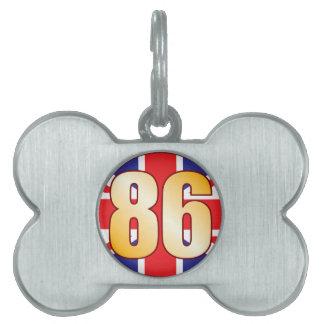 86 UK Gold Pet Name Tag