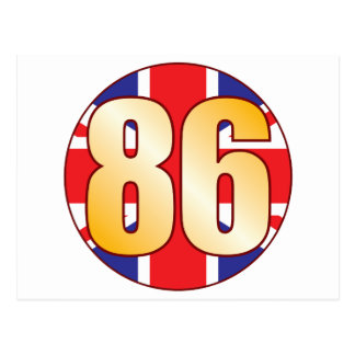 86 UK Gold Postcard