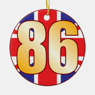 86 UK Gold Round Ceramic Decoration