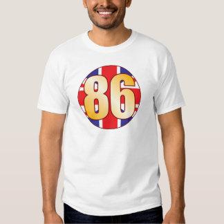 86 UK Gold T Shirts