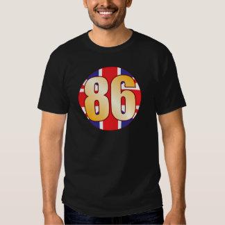 86 UK Gold Tee Shirts