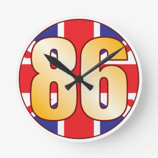 86 UK Gold Wall Clock