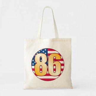 86 USA Gold Budget Tote Bag