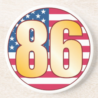 86 USA Gold Drink Coaster