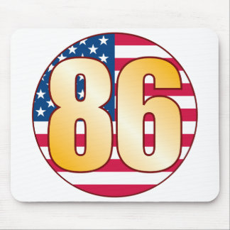 86 USA Gold Mouse Pad