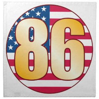 86 USA Gold Napkin