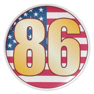 86 USA Gold Plates