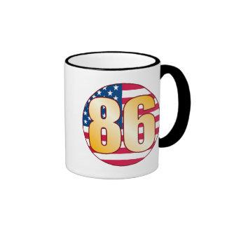 86 USA Gold Ringer Mug
