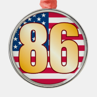 86 USA Gold Silver-Colored Round Decoration