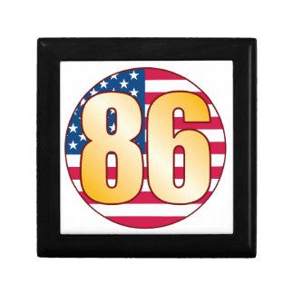 86 USA Gold Small Square Gift Box