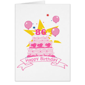 86 Year Old Birthday Cake Cards