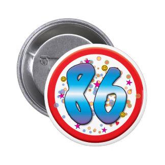 86th Birthday Badges