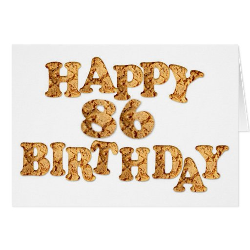 86th Birthday card for a cookie lover