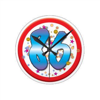 86th Birthday Wallclock