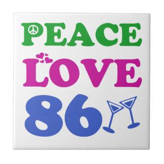 86th birthday designs ceramic tiles